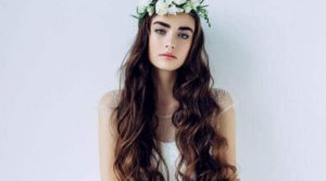wedding hairstyle with long hair
