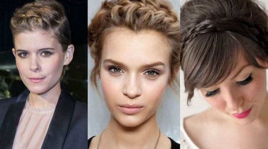 easy hairstyles for short hair braids