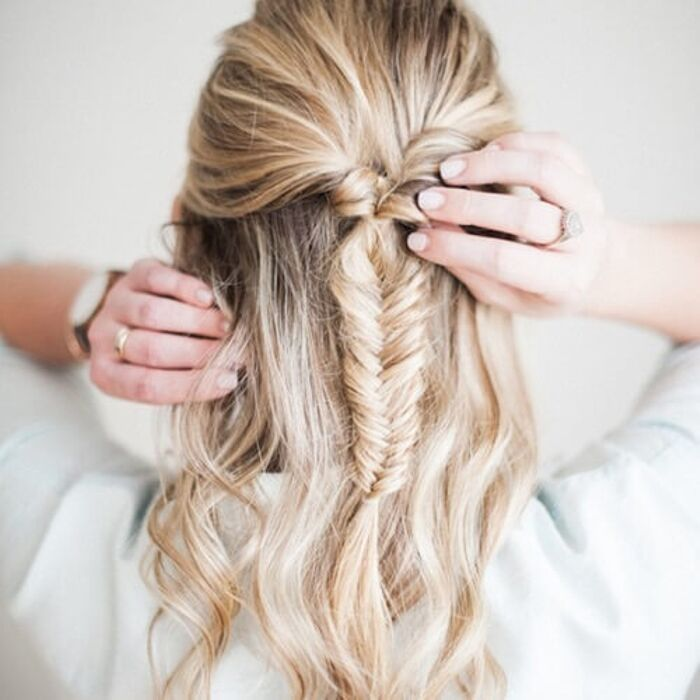 fishtail hairstyles for medium hair