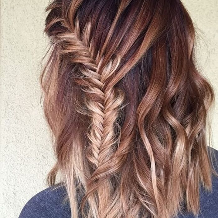 medium length hairstyles with braids