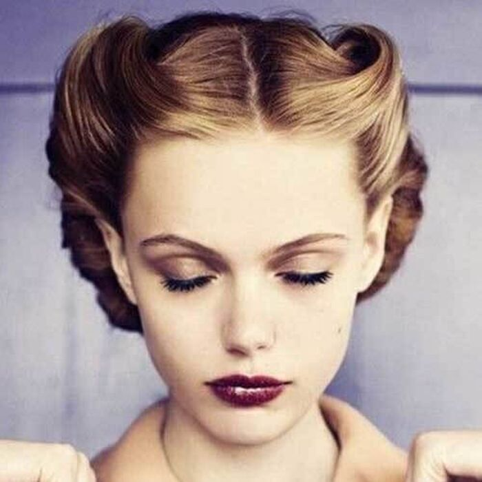 Medium length easy vintage hairstyles