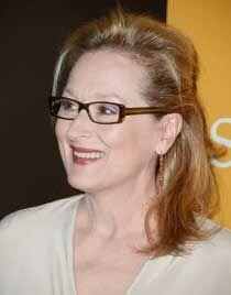 Meryl Streep wears a semi-gathered haircut