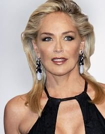 Sharon Stone with two-tone hair
