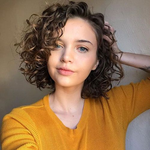bob haircut for curly hair