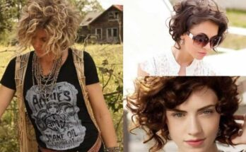 short haircuts with curlers