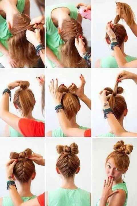 How to make easy hairstyles for school?