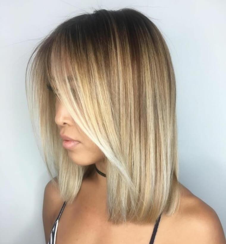 Modern layered bob cuts