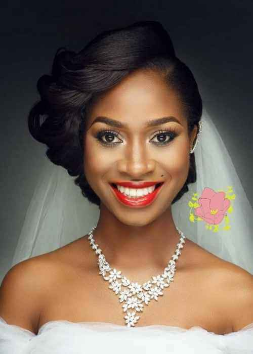 African American Wedding Hairstyles with Jewelry