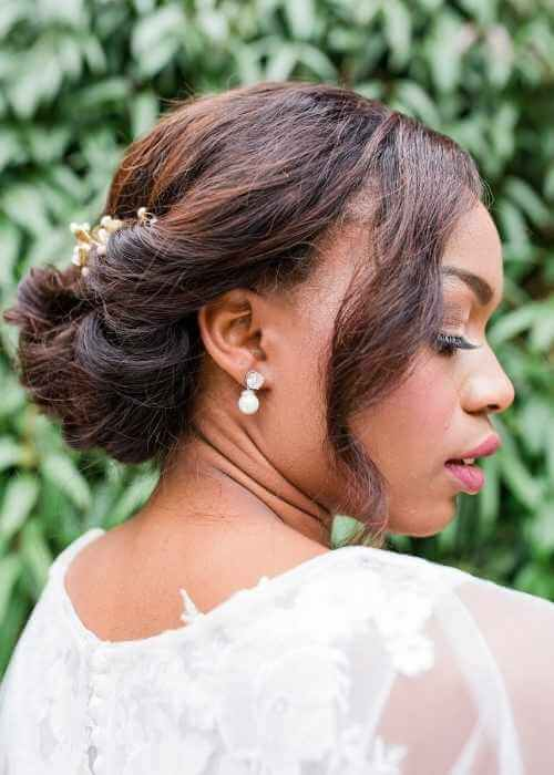 African American wedding bun hairstyles