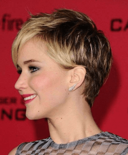 Short hairstyle for party