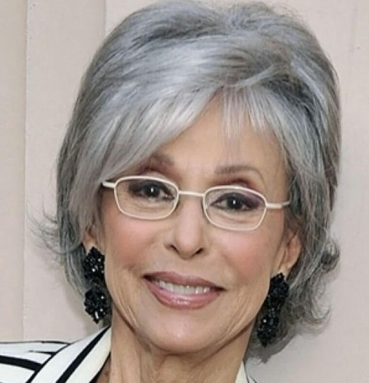 Glasses combined with hair color in a woman over 50 years old